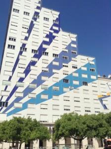 Modern building in Lisbon